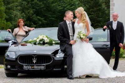 Hochzeit Residenz Kempten cooles Hochzeitsauto Sportwagen Maserati Sergej Metzger Hochzeitsvideo Hannover Hildesheim