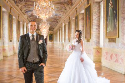 Hochzeit-Schloss-Ludwigsburg-Ahnengalerie-Marmorsaal-Brautpaar-Sergej-Metzger-Hochzeitsvideo-Hannover