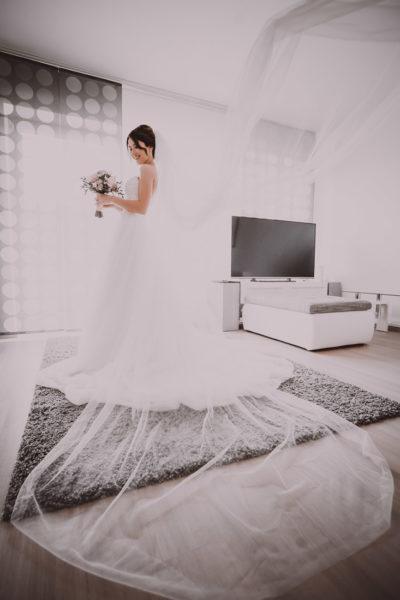 Hochzeit in Herford Moor Ranch Getting Ready Brautjungfern Morgen der Braut Hochzeitsfotografin Natalja Frei Hochzeitsvideograf Hannover Sergej Schleier